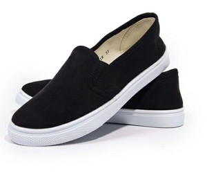 black shoes, slip on, and gym shoes image
