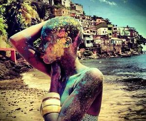 beach, colors, and blackwoman image