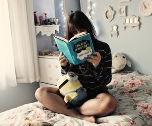 book, girl, and the fault in our stars image