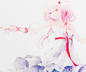 anime, pink, and guilty crown image