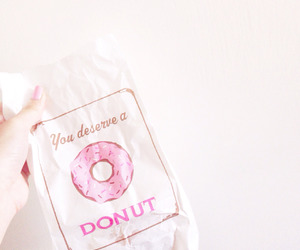 pink, aesthetic, and donut image