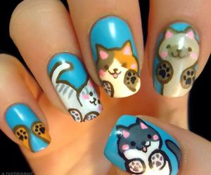 nails, cat, and kitten image