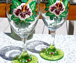 gift ideas, hand painted glasses, and painted wine glasses image
