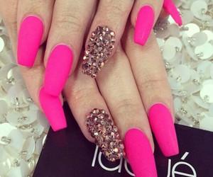 diamonds, matte, and pink image