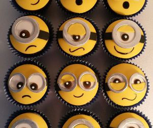 adorable, minions, and cupcakes image