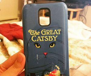 cat, phone, and redbubble image