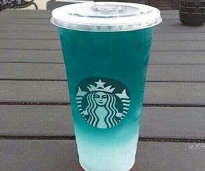 starbucks, drink, and blue image