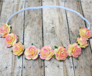 boho, flower crown, and flower headband image