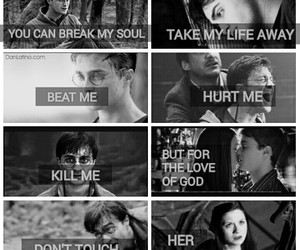 harry potter, love, and hinny image