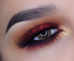 makeup, red, and make up image