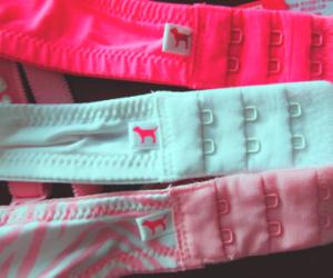 bra, pink, and girl image