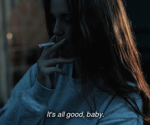 baby, cigarette, and cool image