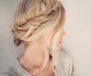 beauty, braid, and hairstyle image