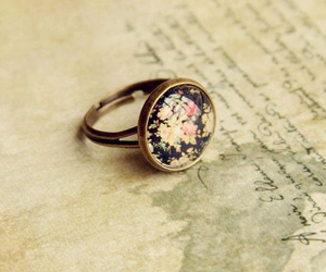 flowers, ring, and fashion image