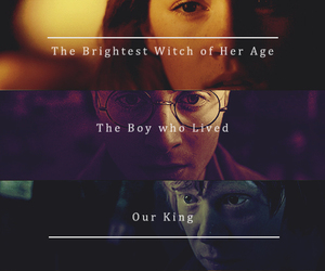 harry potter, ron weasley, and hermione granger image
