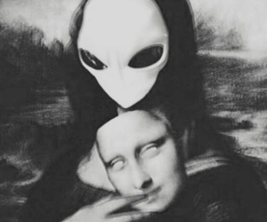 alien, mona lisa, and art image