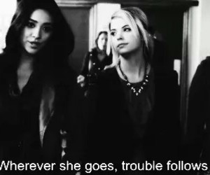 pll, hanna, and spencer image