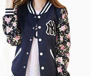 baseball, floral, and fashion image