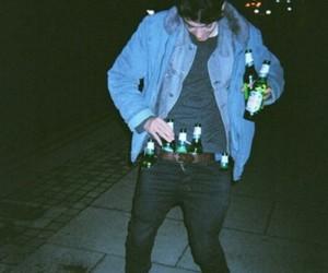 boy, grunge, and beer image