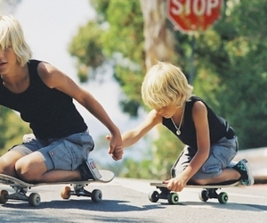 boy, skate, and brothers image