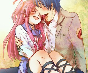 angel beats, anime, and couple image