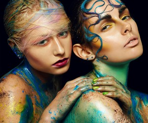 avant garde, colors, and fashion photography image