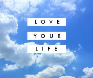 love, life, and sky image