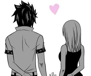 anime, black and white, and girl image