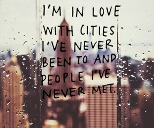 city, love, and quotes image