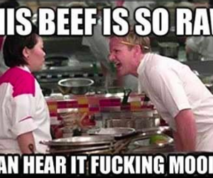 beef, funny, and hells kitchen image