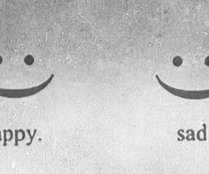 sad, happy, and smile image