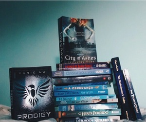 blue, books, and percy jackson image