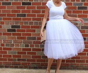 bridal, tulle, and white tulle skirt image