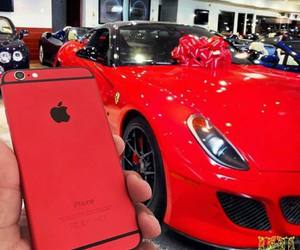 car, luxury, and red image