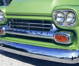 chevy, green, and hotrod image