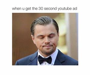 funny, leonardo dicaprio, and youtube image