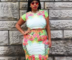 black woman, model, and plus sized image