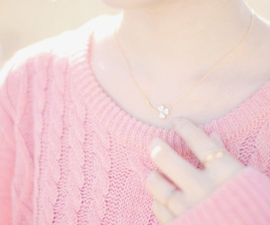 girly, pink, and sweater image