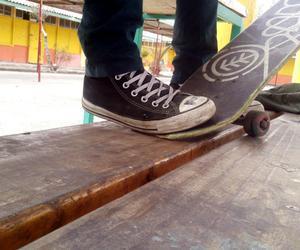boy, skateboard, and converse image