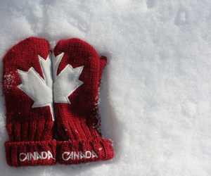 canada, gloves, and snow image
