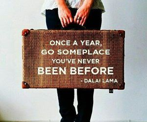travel, quotes, and dalai lama image