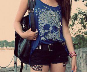 girl, style, and skull image