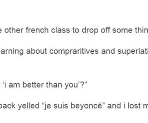 class, french, and tumblr posts image