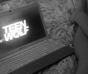 black and white, serie, and teen wolf image