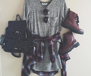 outfit, backpack, and shoes image