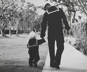 boy, father, and sailor image