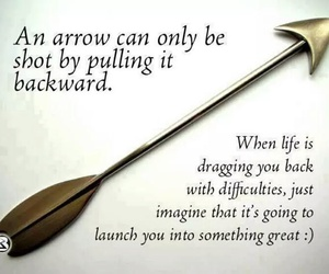 arrow, quote, and life image