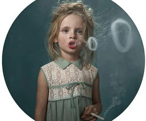 smoke, girl, and kids image