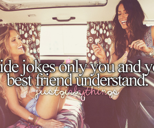 best friends, inside jokes, and just girly things image