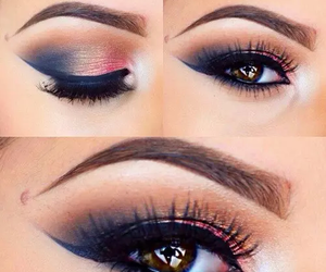 make up, eye, and eyeliner image